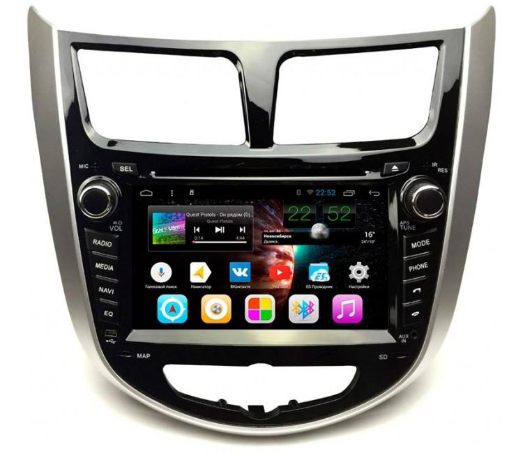 Штатное головное устройство для Hyundai Solaris на OS Android 7.1.1