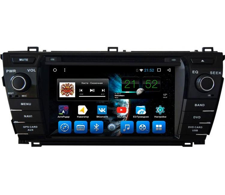 Штатная мультимедийная система на OS Android 10.1 для Toyota Corolla E180