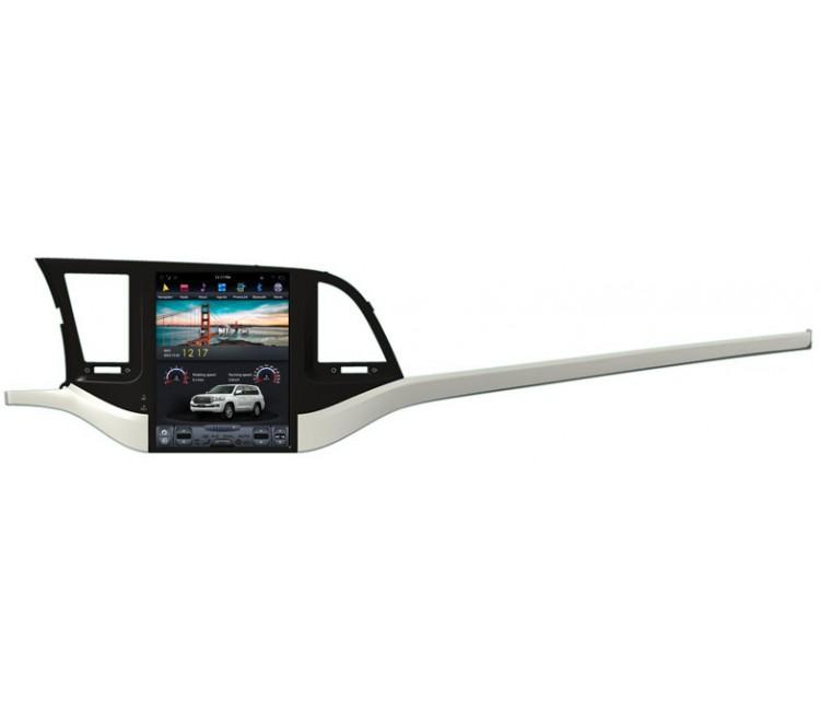 Штатное головное устройство в стиле Tesla  для Hyundai Elantra на OS Android 8.0.1