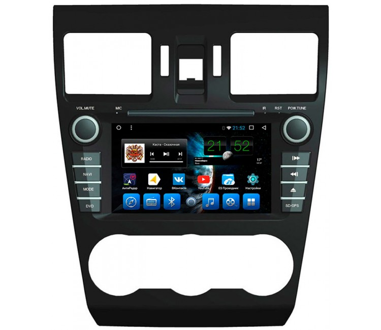 "Штатная мультимедийная система Mstar на OS Android 7.1.1 для Subaru XV, Forester, Impreza, 2012 Экран 7"""