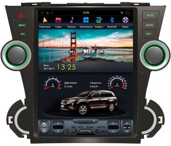"""Штатное головное устройство для Toyota Highlander XU40 Экран 12,1"""""""