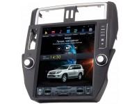 Штатное головное устройство в стиле Тесла для Toyota Land Cruiser Prado 150 на OS Android 9.0.1, Super Audio