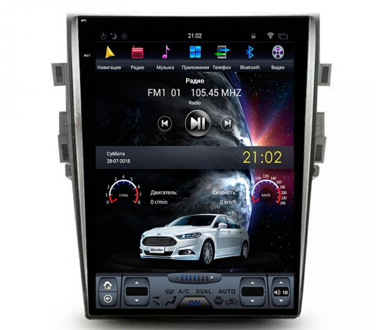 Штатная мультимедийная система в стиле Tesla для Ford Mondeo V на OS Android 8.0.1