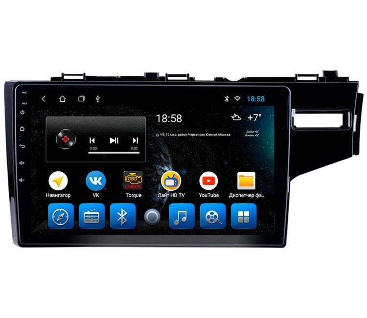 Штатная мультимедийная система на OS Android 10.1 для Honda Fit
