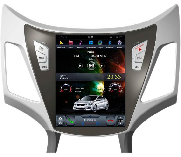 Штатная мультимедийная система для Hyundai Elantra / Avante на OS Android 9.0.1, Super Audio