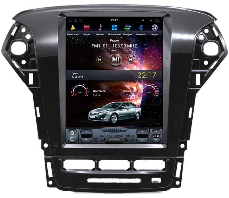Штатная мультимедийная система в стиле Tesla для Ford Mondeo на OS Android 8.0.1