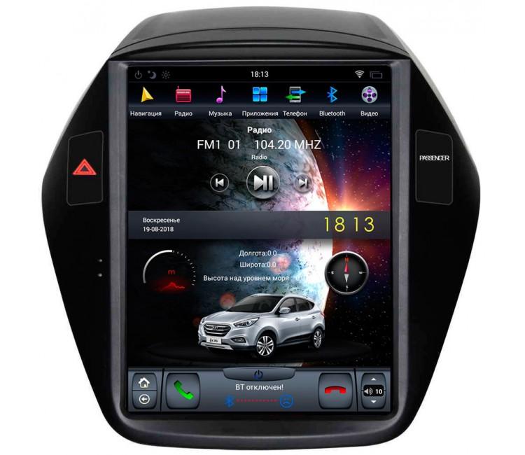 Штатное головное устройство в стиле Tesla для Hyundai Ix35 на OS Android 8.0.1, Super Audio