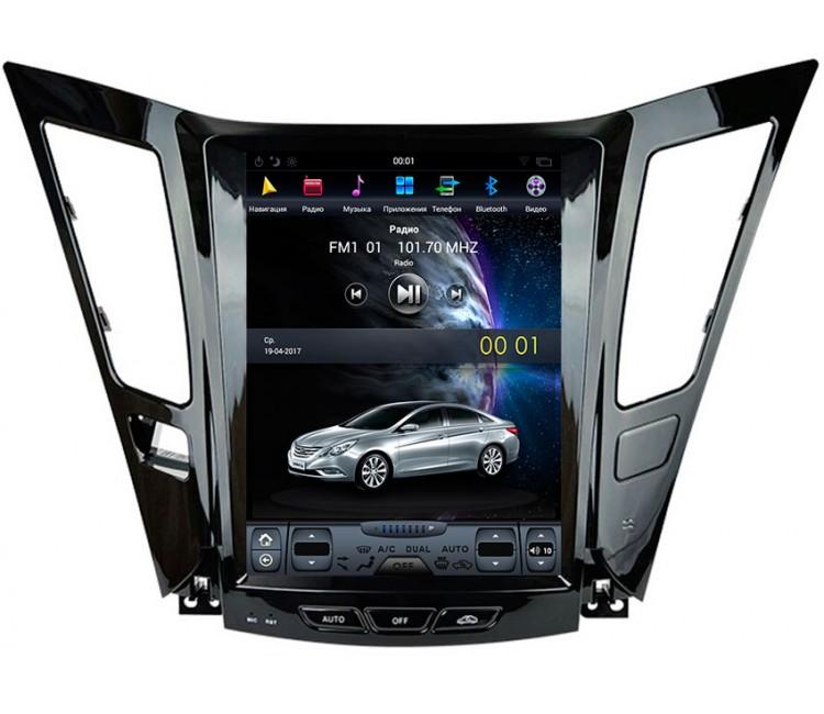 Штатное головное устройство в стиле Tesla для Hyundai Sonata на OS Android 9.0.1, Super Audio