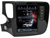 Штатная мультимедийная система в стиле Tesla для Mitsubishi Outlander на OS Android 9.0.1