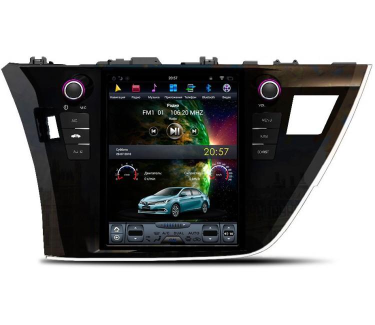 Штатное головное устройство в стиле Тесла для Toyota Corolla E180 на OS Android 9.0.1