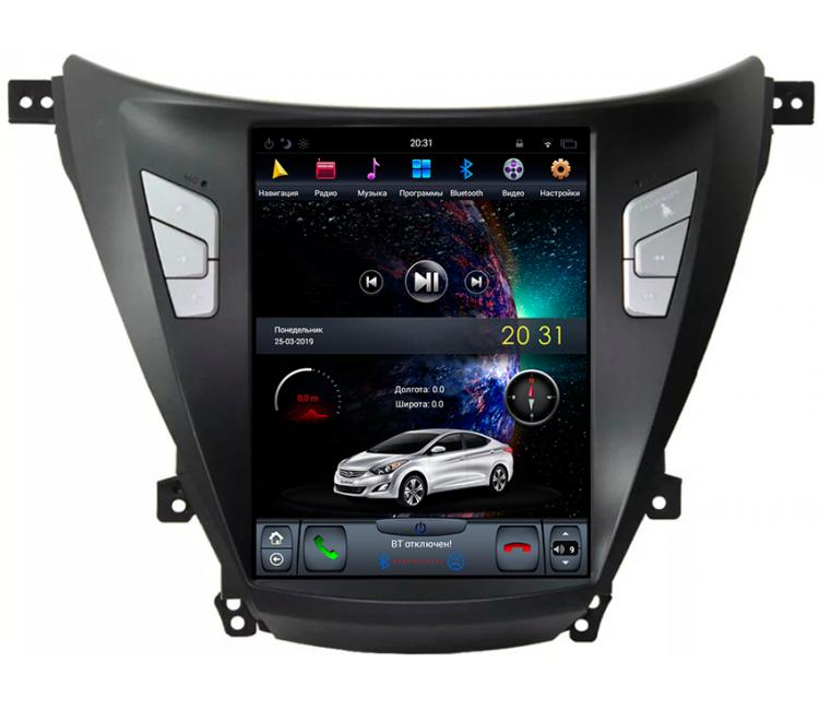 Штатное головное устройство для Hyundai Elantra / Avante на OS Android 9.0.1