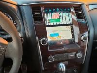 Штатная мультимедийная система на OS Android 8.0.1 в стиле Tesla для Nissan Patrol Y62, Super Audio
