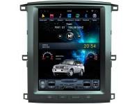 Штатная мультимедийная система в стиле Tesla на OS Android 9.0.1 для Toyota LC100