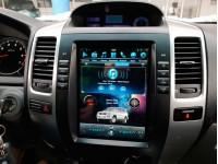 Штатное головное устройство в стиле Tesla для Toyota LC Prado 120 на OS Android 9.0.1, Mankana