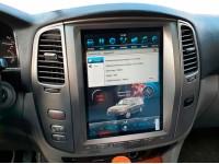 Штатная мультимедийная система в стиле Tesla на OS Android 9.0.1 для Lexus LX470, Super Audio