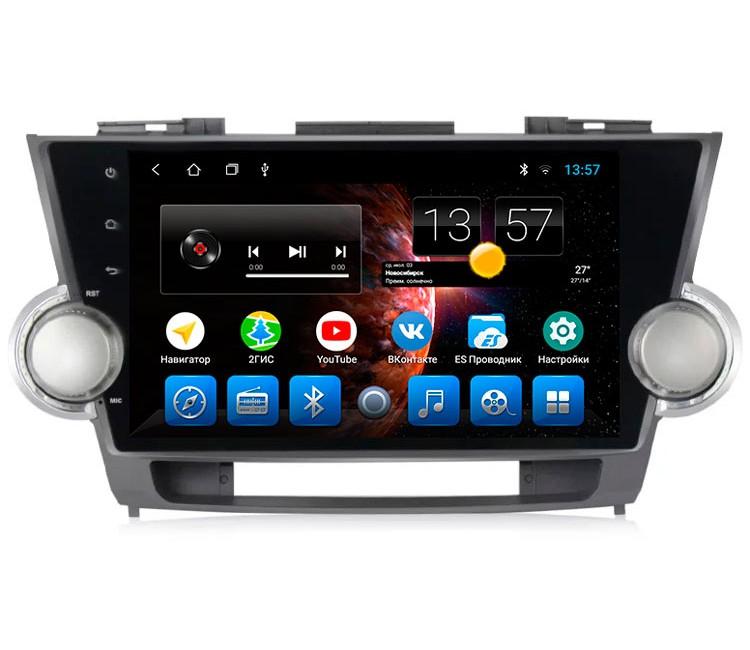 Штатная мультимедийная система на OS Android 8.0.1 для Toyota Highlander XU40