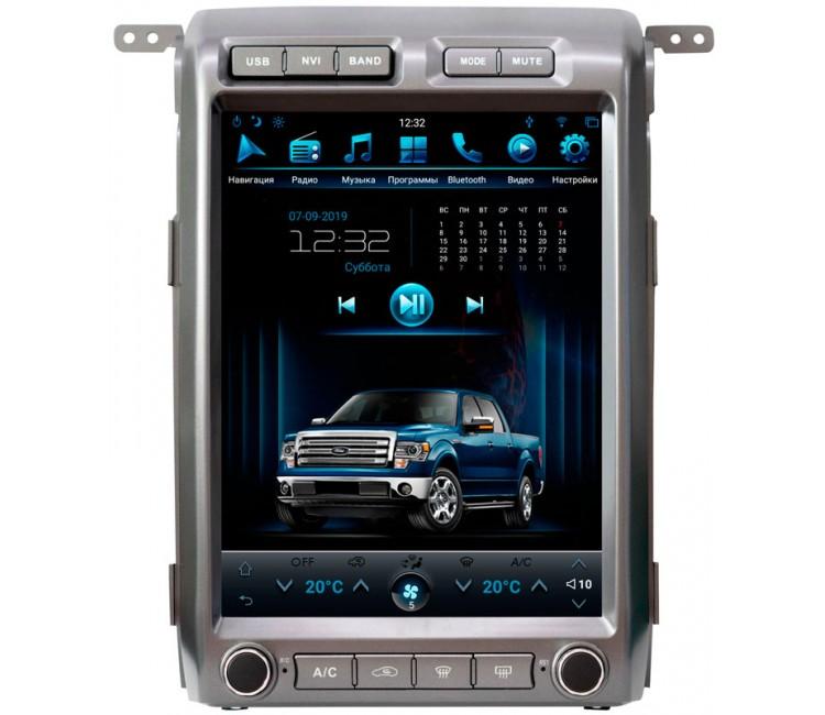 Штатная мультимедийная система в стиле Tesla для Ford F150 на OS Android 9.0.1
