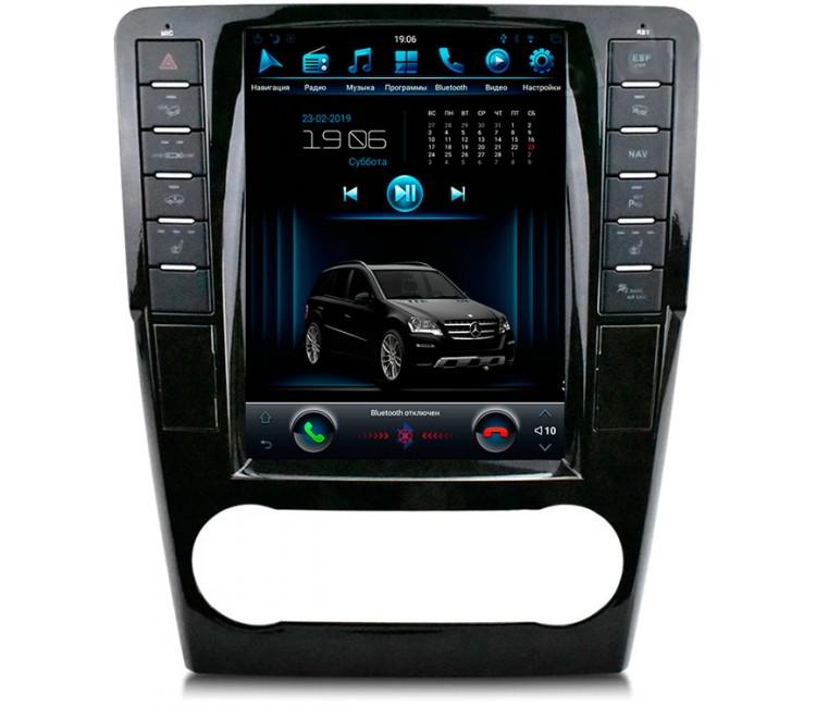 Штатная мультимедийная система в стиле Tesla для Mercedes-Benz ML-class W164, GL-class  X164