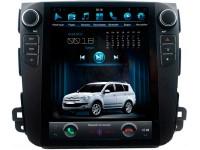 Штатное головное устройство в стиле Tesla для Mitsubishi Outlander XL, Peugeot 4007 на OS Android 8.0.1