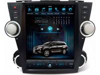 Штатное головное устройство в стиле Тесла для Toyota Highlander XU40 на OS Android 9.0.1