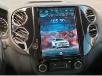 Штатное головное устройство в стиле Тесла для Volkswagen Tiguan на OS Android 9.0.1