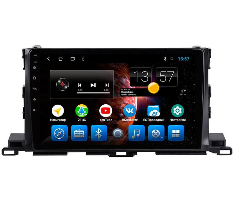 Штатная мультимедийная система на OS Android 8.0.1 для Toyota Highlander XU50