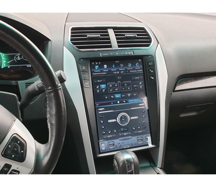 Штатная мультимедийная система в стиле Tesla на OS Android 8.0.1 для Ford Explorer SYNC 2