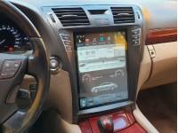 Штатная мультимедийная система в стиле Tesla на OS Android 9.0.1 для Lexus LS 460