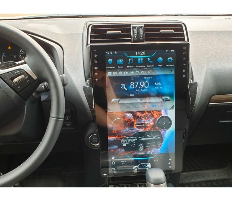 Штатная мультимедийная система Super Audio в стиле Tesla для Toyota Prado 150 2018