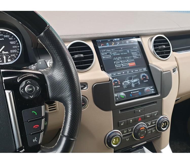 Штатная мультимедийная система в стиле Тесла для Land Rover Discovery IV на OS Android 9.0.1, Super Audio