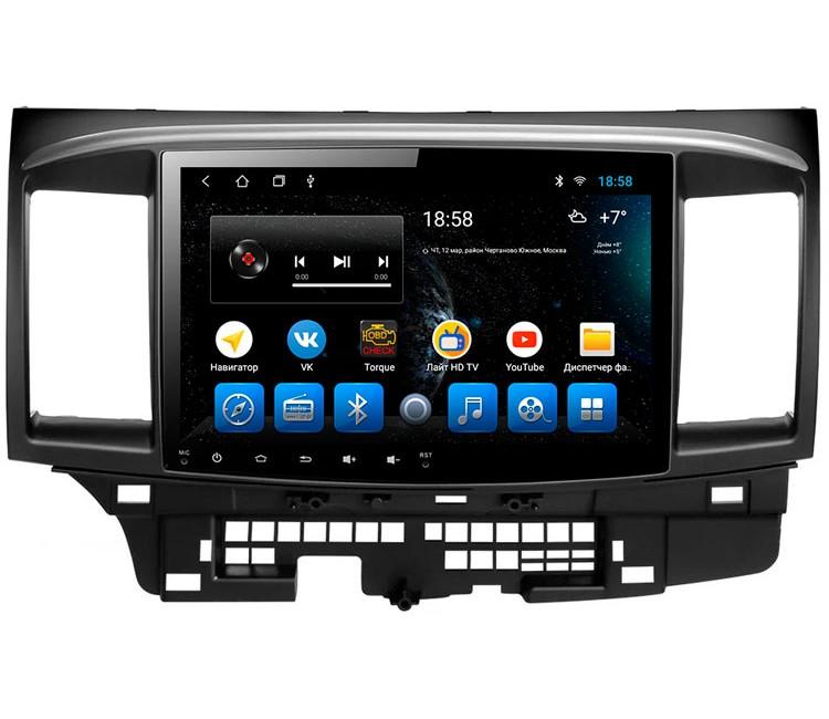 Штатное головное устройство для Mitsubishi Lancer X на OS Android 9.0.1