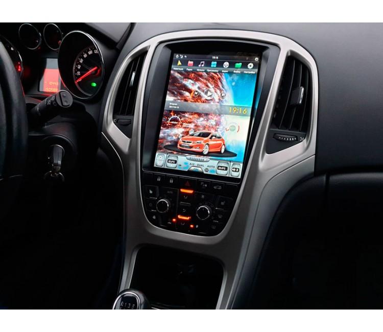 Штатная мультимедийная система в стиле Тесла для Opel Astra J на OS Android 9.0.1, Super Audio