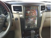 Штатная мультимедийная система в стиле Tesla на OS Android 9.0.1 для Lexus LX 570 Tesla Style