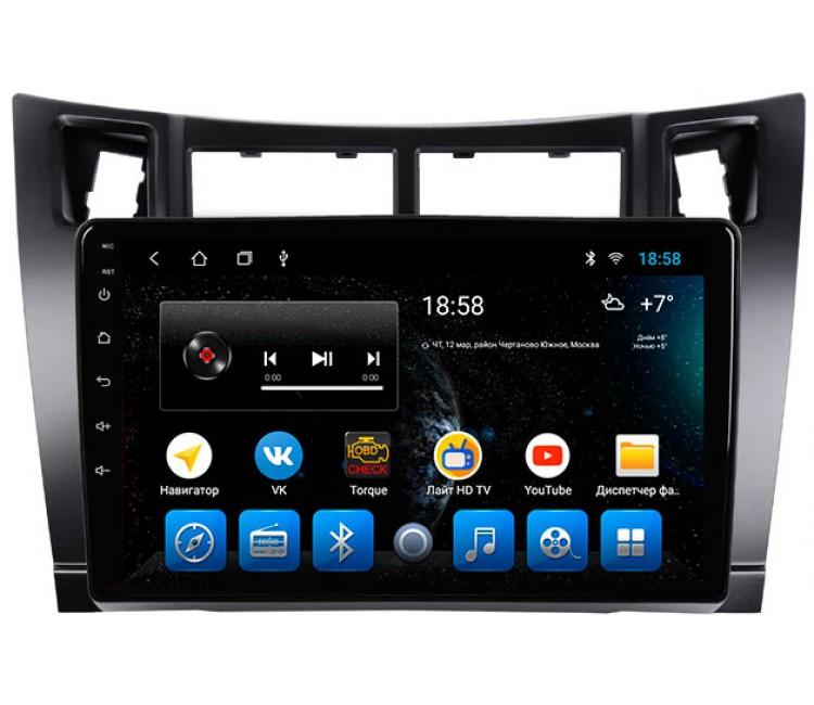 Штатное головное устройство на OS Android 10 для Toyota Yaris