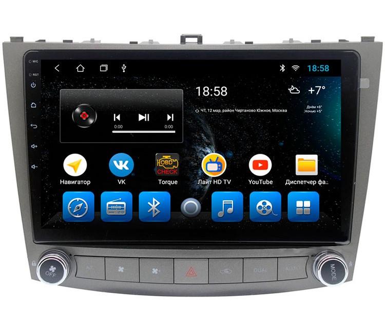 Штатное головное устройство для Lexus IS на OS Android 9.0.1