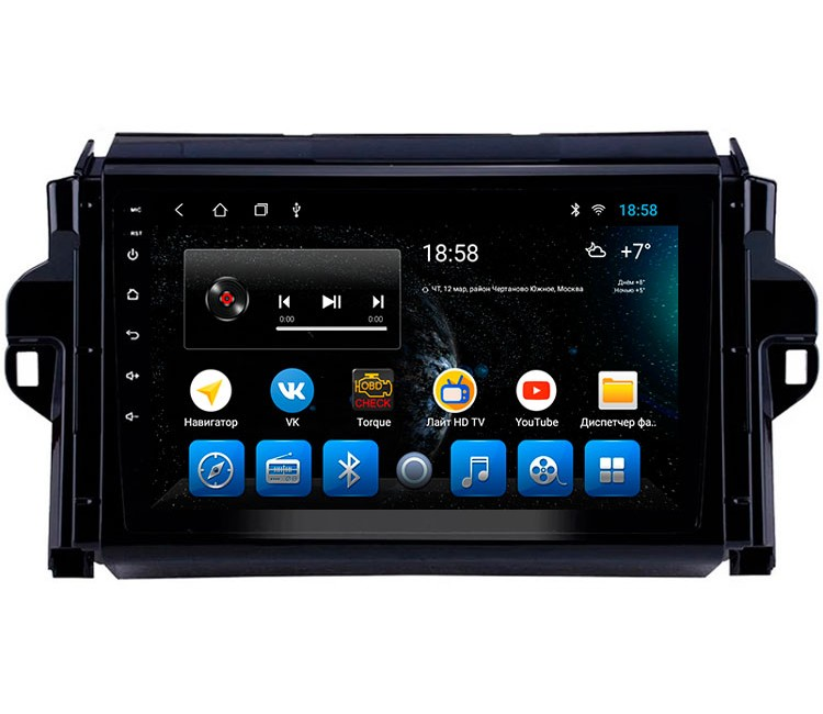 Штатное головное устройство на OS Android 10.1 для Toyota Fortuner