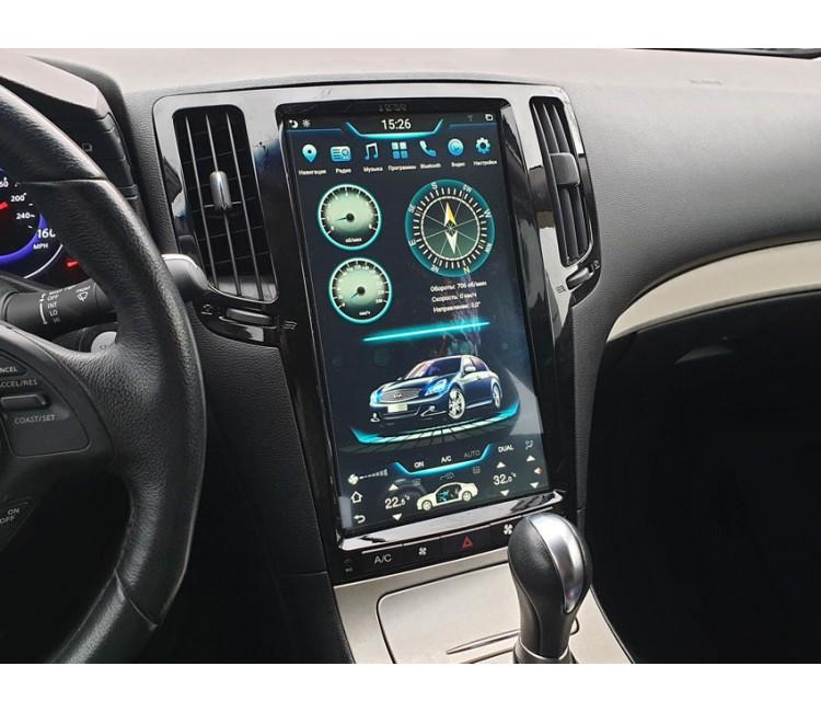 Штатная мультимедийная система в стиле Tesla на OS Android 9.0.1 для Infiniti G25, G35, G37