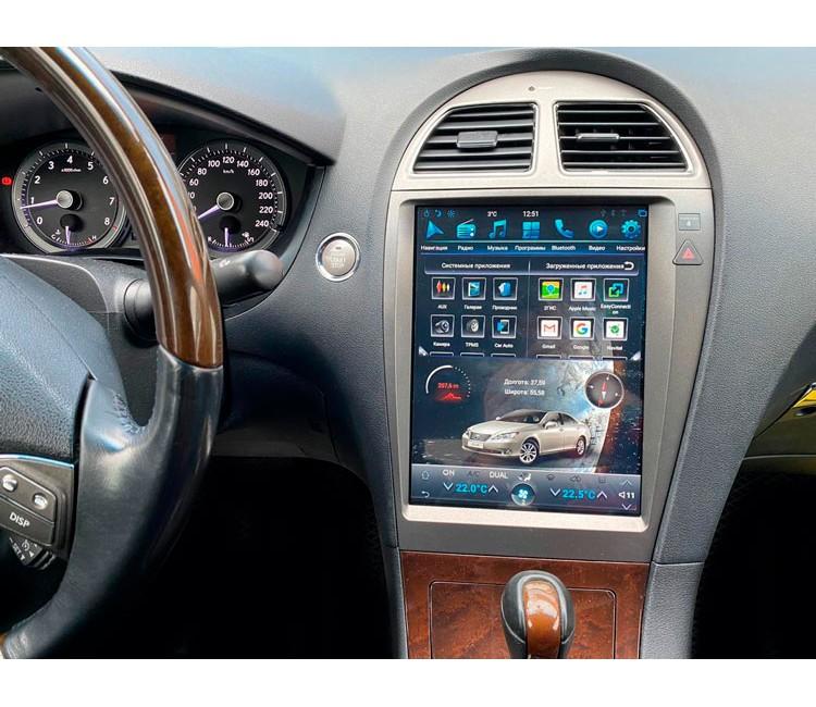 Штатная навигационная система Mankana в стиле Tesla на OS Android 9.0.1 для Lexus ES V