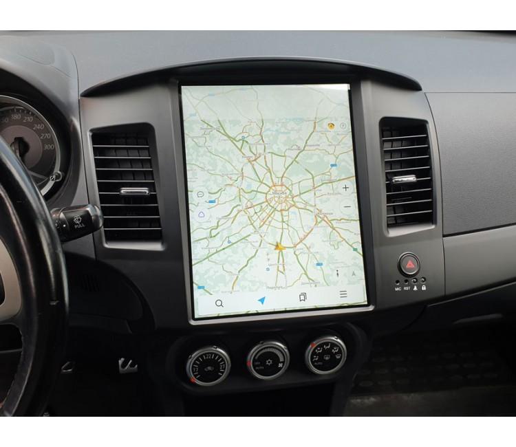 Штатная мультимедийная система в стиле Tesla для Mitsubishi Lancer X на OS Android 9.0.1
