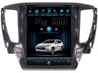 Штатная мультимедийная система в стиле Тесла для Mitsubishi Pajero Sport 2017 на OS Android 9.0.1, Super Audio