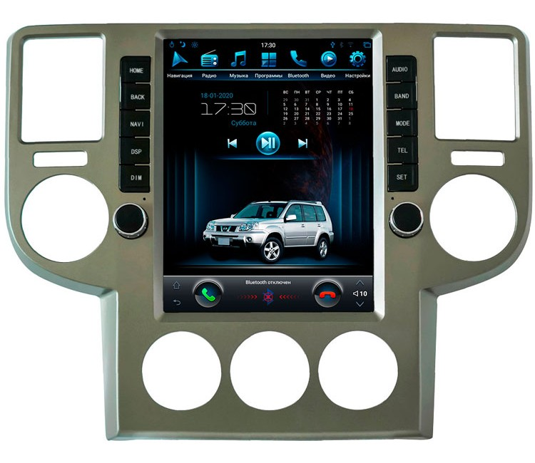 Штатное головное устройство в стиле Тесла для Nissan X-Trail T30 на OS Android 9.0.1
