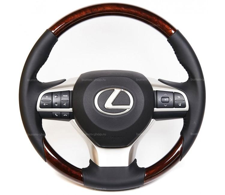 Руль рестайлинг II для Lexus LX 570, 450d 2007-2021 в оригинальном стиле