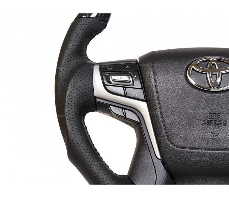 Руль в стиле рестайлинг II для Toyota Land Cruiser 200 2007-2021 с анатомией