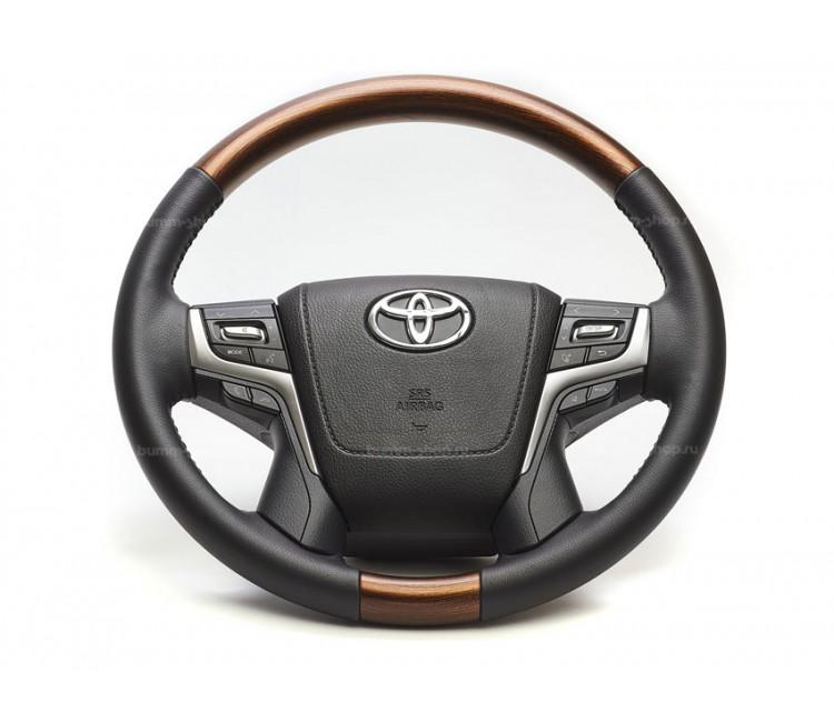 Руль рестайлинг II для Toyota Land Cruiser 200 2007-2021 в оригинальном стиле V.1