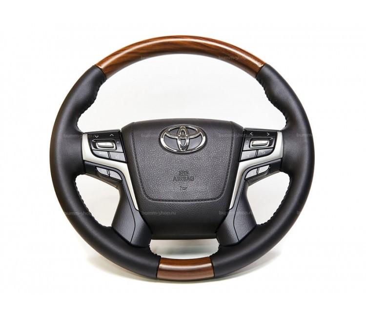Руль рестайлинг II для Toyota Land Cruiser 200 2007-2021 в оригинальном стиле V.2