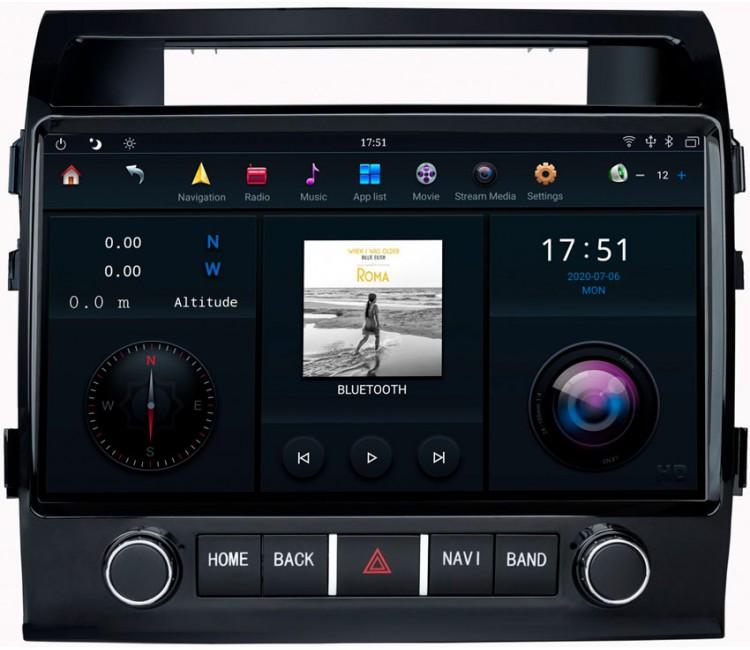 Штатная мультимедийная система Mankana на OS Android 9.0.1 для Toyota Land Cruiser 200