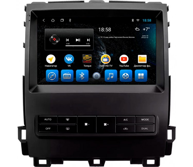 "Головное устройство Mankana BS-09018 для Toyota Prado 120, Lexus GX470 на OS Android, Экран 9"""