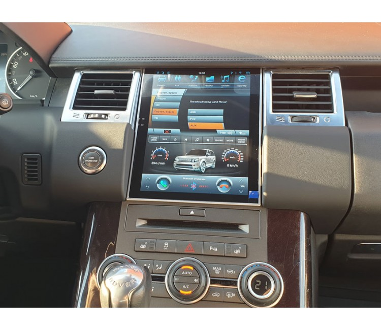 Штатная мультимедийная система в стиле Тесла для Land Rover Range Rover Sport 2009-2013 на OS Android 9.0.1, Mankana