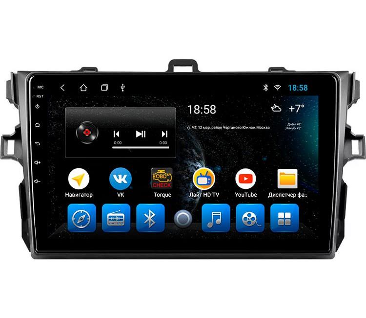 "Головное устройство Mankana BS-09184 для Toyota Corolla 06-13г на OS Android, Экран 9"""