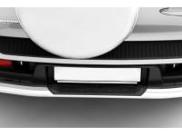 Защита заднего бампера с накладкой Ø63мм (нерж) CHEVROLET NIVA